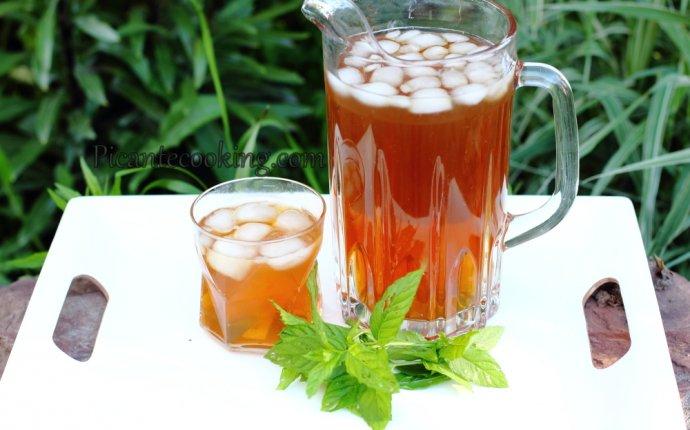 Холодный зеленый чай с мятой | Picantecooking